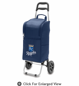 Picnic Time Cart Cooler - Navy Blue Kansas City Royals