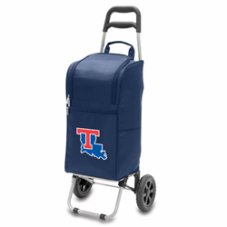 Picnic Time Cart Cooler Navy Blue Louisiana Tech University Bulldogs