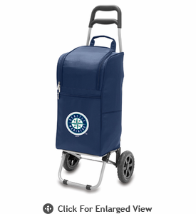 Picnic Time Cart Cooler - Navy Blue Seattle Mariners