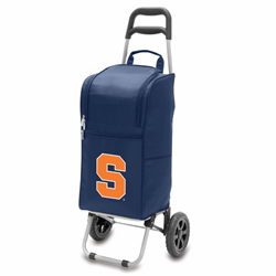 Picnic Time Cart Cooler Navy Blue Syracuse University Orange