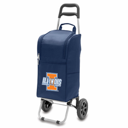 Picnic Time Cart Cooler Navy Blue University of Illinois Fighting Illini
