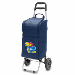 Picnic Time Cart Cooler Navy Blue University of Kansas Jayhawks
