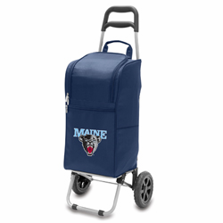Picnic Time Cart Cooler Navy Blue University of Main Black Bears