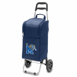 Picnic Time Cart Cooler Navy Blue University of Memphis Tigers