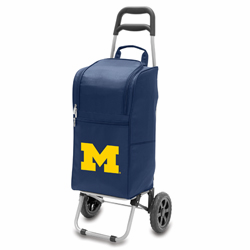 Picnic Time Cart Cooler Navy Blue University of Michigan Wolverines