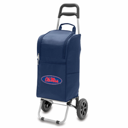 Picnic Time Cart Cooler Navy Blue University of Mississippi Rebels