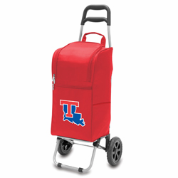 Picnic Time Cart Cooler Red Louisiana Tech University Bulldogs