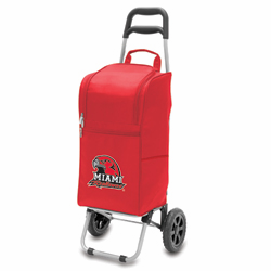 Picnic Time Cart Cooler Red Miami University Redhawks