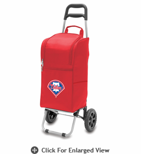 Picnic Time Cart Cooler - Red Philadelphia Phillies