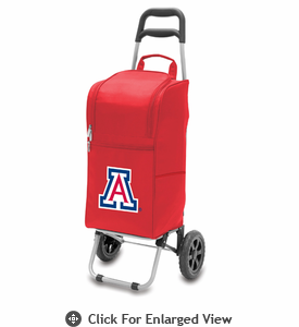 Picnic Time Cart Cooler Red University of Arizona Wildcats