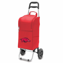 Picnic Time Cart Cooler Red University of Arkansas Razorbacks