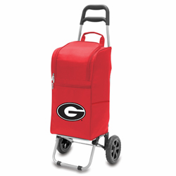 Picnic Time Cart Cooler Red University of Georgia Bulldogs
