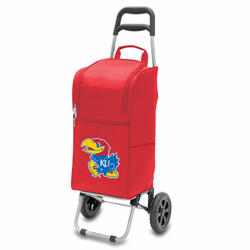 Picnic Time Cart Cooler Red University of Kansas Jayhawks