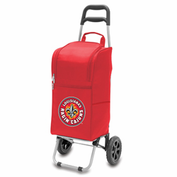 Picnic Time Cart Cooler Red University of Louisiana Ragin Cajuns