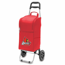 Picnic Time Cart Cooler Red University of Louisville Cardinals