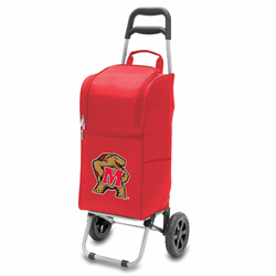Picnic Time Cart Cooler Red University of Maryland Terrapins