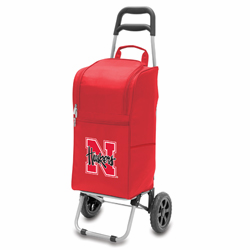 Picnic Time Cart Cooler Red University of Nebraska Cornhuskers