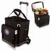 Picnic Time Cellar w/ Trolley - Black Chicago Cubs