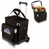 Picnic Time Cellar w/ Trolley - Black Colorado Rockies