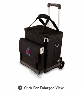Picnic Time Cellar w/ Trolley - Black Los Angeles Angels