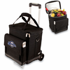 Picnic Time Cellar w/ Trolley - Black Milwaukee Brewers