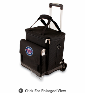 Picnic Time Cellar w/ Trolley - Black Minnesota Twins
