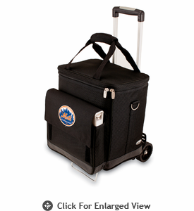 Picnic Time Cellar w/ Trolley - Black New York Mets