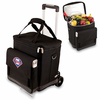 Picnic Time Cellar w/ Trolley - Black Philadelphia Phillies