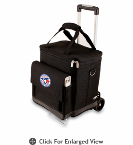 Picnic Time Cellar w/ Trolley - Black Toronto Blue Jays