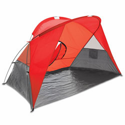 Picnic Time Cove Sun Shelter Red/Gray/Silver