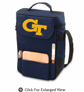 Picnic Time Duet Digital Print - Navy Blue Georgia Tech Yellow Jackets
