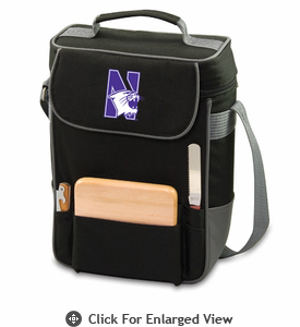 Picnic Time Duet Embroidered - Black/Grey Northwestern University Wildcats