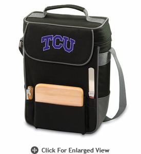 Picnic Time Duet Embroidered - Black/Grey TCU Horned Frogs