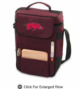 Picnic Time Duet Embroidered - Burgundy University of Arkansas Razorbacks