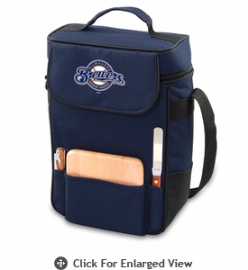 Picnic Time Duet - Navy Blue Milwaukee Brewers