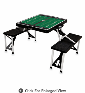 Picnic Time Football Picnic Table - Black Coastal Carolina Chanticleers