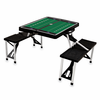 Picnic Time Football Picnic Table - Black TCU Horned Frogs