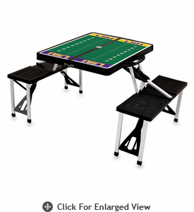Picnic Time Football Picnic Table LSU Tigers