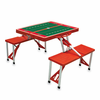 Picnic Time Football Picnic Table - Red Miami University Hawks