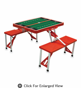 Picnic Time Football Picnic Table - Red University of Georgia Bulldogs