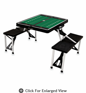 Picnic Time Football Picnic Table University of Wyoming Cowboys