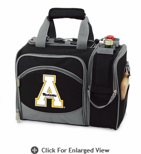 Picnic Time Malibu Digital Print - Black Appalachian State Mountaineers