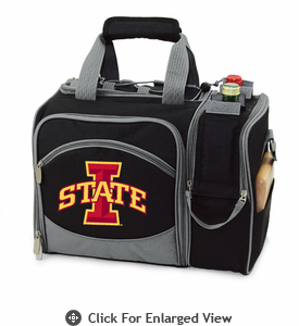 Picnic Time Malibu Digital Print - Black Iowa State Cyclones
