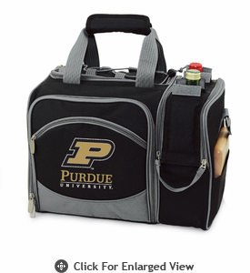 Picnic Time Malibu Digital Print - Black Purdue University Boilermakers