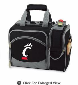 Picnic Time Malibu Digital Print - Black University of Cincinnati Bearcats