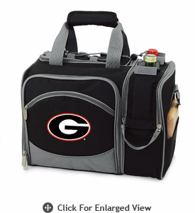 Picnic Time Malibu Digital Print - Black University of Georgia Bulldogs
