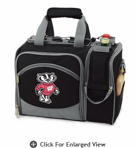 Picnic Time Malibu Digital Print - Black University of Wisconsin Badgers