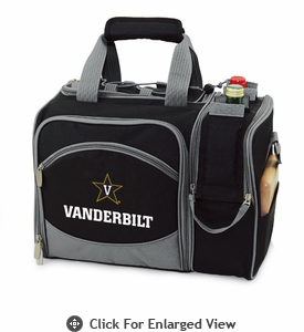 Picnic Time Malibu Digital Print - Black Vanderbilt University Commodores