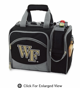 Picnic Time Malibu Digital Print - Black Wake Forest Demon Deacons