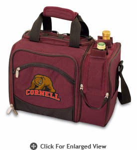Picnic Time Malibu Digital Print - Burgundy Cornell University Bears Big Red